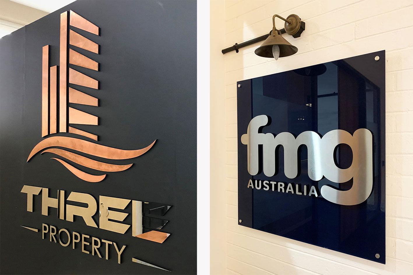 Lasercut Metal Office Signs