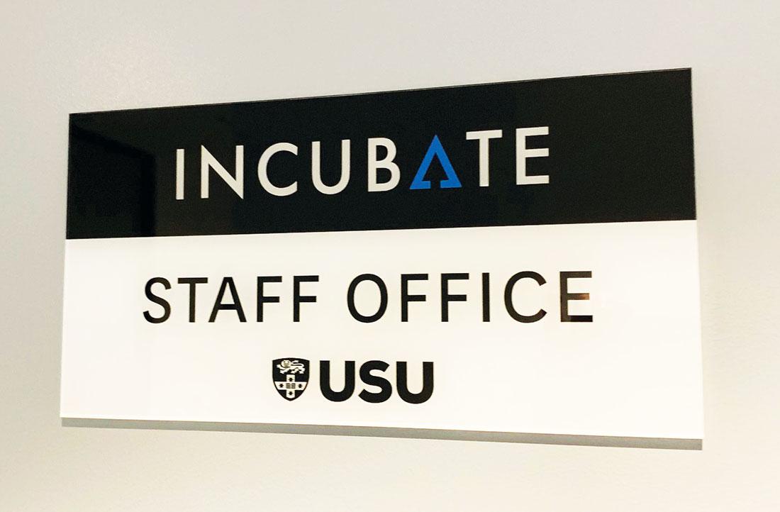 University Door Sign