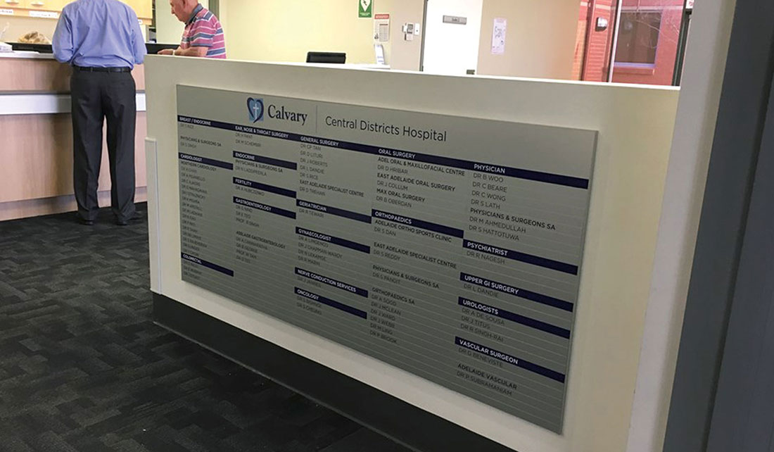 Anodised Aluminium Magnetic  Directory Boards