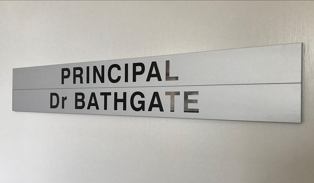 School Principle Door Sign