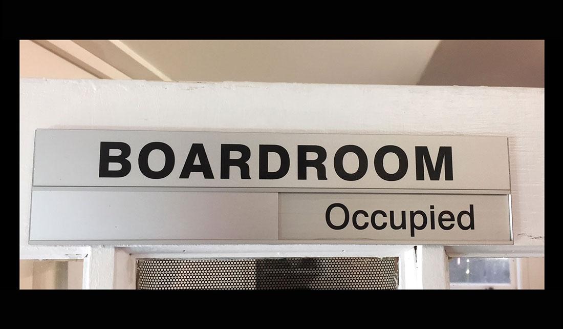 Boardroom Slider Door Plate
