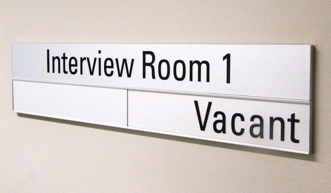 Vacant, In Use Door Slider