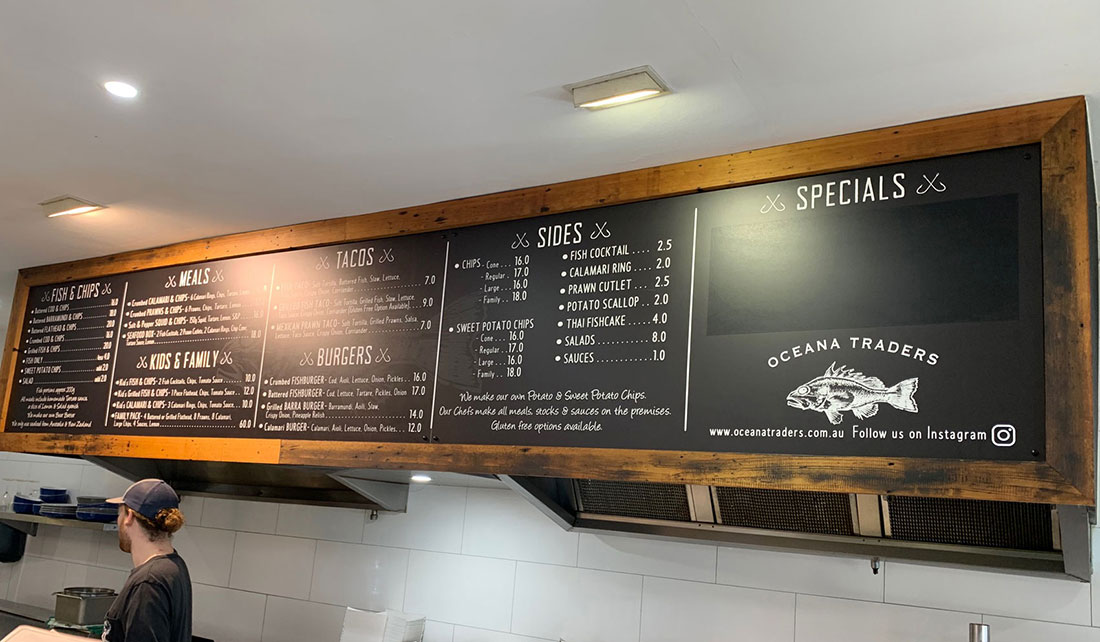 Fish N Chips Menu Board