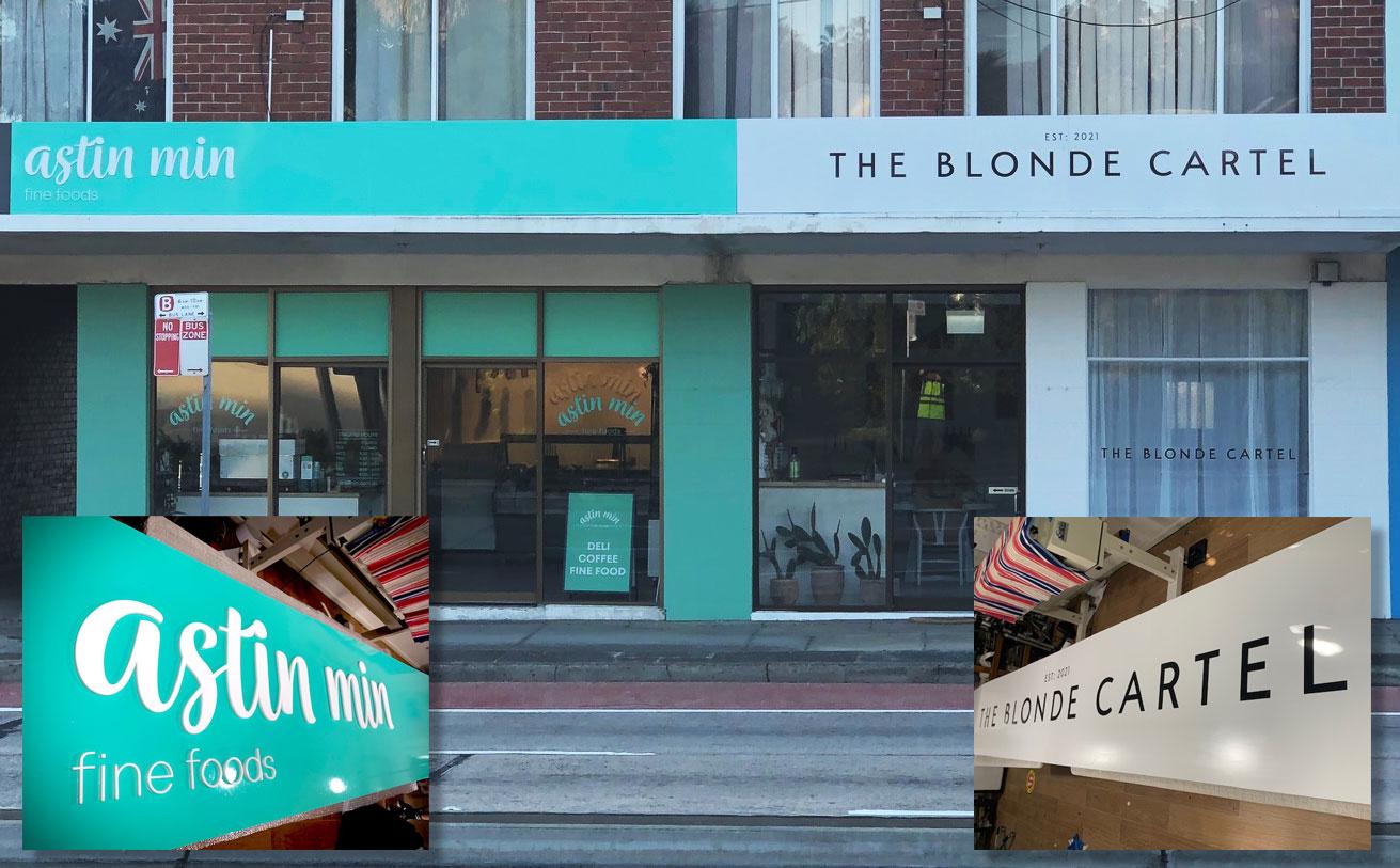Awning and Window Shopfront Signage
